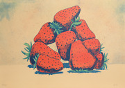 Aaron Fink Strawberries Lithograph Signed And Numbered In Pencil