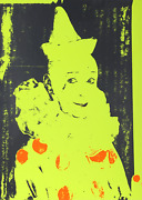 Ford Beckman, Neon Clown Green With Orange, Screenprint, Signed Verso