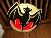 Vintage Large Bacardi Bar Sign 30 By 30 By 4 Can Be Lighted Rare