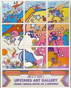 Peter Max Upstairs Art Gallery London Poster