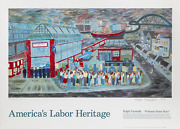 Ralph Fasanella Welcome Home Boys For Americaand039s Labor Heritage Poster Signed