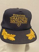 Vintage Firestone 1992 Master Contractor Hat Perfect Shape No Signs Of Wear Rare
