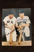 Autographed 8x10 Color Photo Ted Williams And Joe Dimaggio Jsa Authenticated Nice