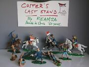 Custerand039s Last Stand Us Troopers - Toy Soldiers By Reamsa In Spain 1960and039s Years.