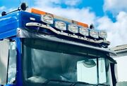 Daf Xf 106 Space Cab Stainless Steel On Top Roof Light Bar 7 Leds 6 Spot Light