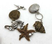Echo Of The Dreamer/ Mars And Valentine Nautical Seahorse Shell Toggle Bracelet