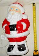 Vintage Collectible Grand Venture Lighted Christmas Blow Mold Plastic Santa L