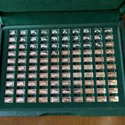 Franklin Mint 100 Cars Sterling Silver Miniature Collection 1885 Benz Collection