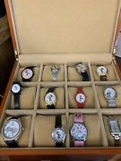 Mickey And Minnie Mouse Watches Lot W/ Box