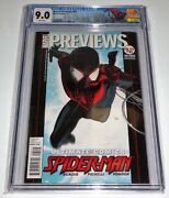 Marvel Previews 95 Cgc Universal Grade Comic 9.0 Miles Morales On Cover 1st