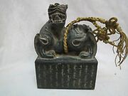 Excellent Artistic Chinese Old Jade Jasper Seal Carved Animal