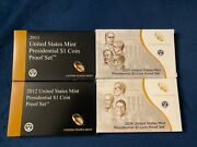2011-2013, 2016 Us Mint Presidential 1 Coin Proof Set