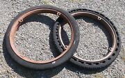 Antique Martin Tractor Truck Solid Rubber Cell Cushion Tires On Rims