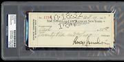 George Gershwin Signed Check Psa/dna With Ira Autographed Note D.1937 Composer