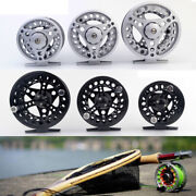 Fly Fishing Reel Aluminum Alloy Body 1/2 3/4 5/6 7/8 Weights Black Usa Ship