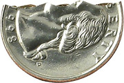 Roy Kueppers Bite Coin - Bite Out Quarter Magic Coins