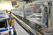 To Fit New Renault T Range Long Haul Steel Roof Light Bar + Rectangle Spots