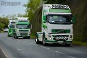 To Fit Volvo Fh Series 2 And 3 Globetrotter Xl Roof Bar + Leds + Round Black Spots