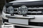 To Fit 2016+ Volkswagen Amarok Front Bumper Light Bar With 7in Round Led Spots
