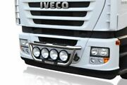 To Fit Iveco Stralis Active Space Front Grill Light Bar A + Round Spot Lamps X4