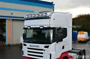 To Fit 19+ Mercedes Actros Mp5 Big Space Stainless Roof Bar + Spots X6 - Type B