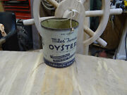 Rare J.h. Miles And Co Famous Oysters Tin Or 1 Gallon Can. Antique