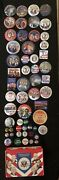 Campaign Buttons. Ike, Rockefeller, Clinton, Bush, Nixon, Goldwater And More
