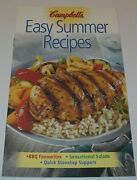 Campbell's Easy Summer Recipes 2002 Bbq Favorites Salads Stovetop Suppers