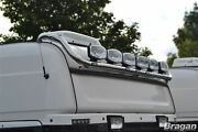 To Fit Scania 4 Series Topline Stainless Roof Top Light Bar + Flush Leds X7
