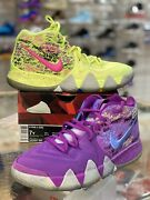 Nike Kyrie Irving 4 Gs All Star Confetti Youth Size 7 Aa2897-900 Purple Yellow