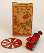 Marx, Gyro-zip The Flying Top, Box, 1920's, Extremely Rare, Mint ++