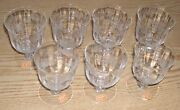 Lot Of 7 Wine Glasses Fostoria Willowmere Etched Patterns