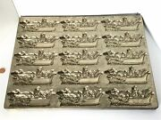 Antique Eppelsheimer And Co Ny Chocolate Mold Usa Made Santa Sleigh And Reindeer