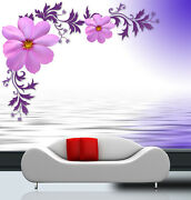 3d Purple Flower Zhua4263 Wallpaper Wall Murals Removable Self-adhesive Amy