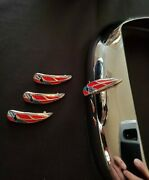 1941 Chevy Fog Lights Emblem Made In Silver