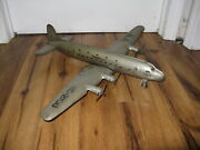 Antique Large Vtg Pressed Steel Marx Nc-2100 American Airlines Airplane Plane Aa