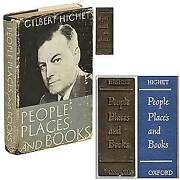 Gilbert Highet / People Places And Books With Original Brass Binding 1st Ed 1953
