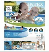 Intex 12 X 30 Easy Set Pool With Filter Pump In Hand Ships Fast