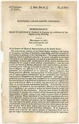 Kentucky Chaplains To Congress Remonstrance Against The Appointment 1st Ed 1833