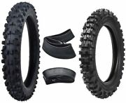 Motocross Front 60/100-14 And Rear 80/100-12 Tire Tube F Dirt Bike Pit Pro Offroad