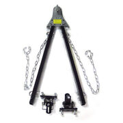 Towing Bar Bumper Mount 5000lb W/chains Rv Car Truck Jeep System Adjustable Tow