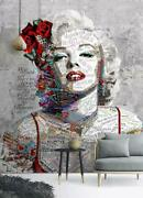 3d Marilyn Monroe Zhua5289 Wallpaper Wall Murals Removable Self-adhesive Amy