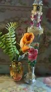Michal Negrin Pair  Murano Glass /bottles Vase Hand Decorated