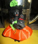 Lot Antique African Black Ethnic Dolls With Baby -marked /germany 1900