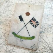 Ww1 Marble Plaque Le Hans 1915 Trench Art British Army Military Wwi Verdun