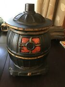 Vintage Mccoy Pot Belly Stove Cookie Jar Neat Decorative Collectable Fast Ship