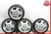 Mercedes W220 S500 Complete Staggered 8.5x9.5 Wheel Tire Rim Set Of 4 Pc R18 Oem