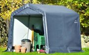 Portable Storage Shed Waterproof Outdoor Steel Frame Cover Stable Durable 8x8x8