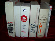 Vintage Lot Of 6 White/cream Color Cookbooks Hb Mccall's Joy Of Cooking And More
