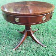 Hickory Chair Pedestal Drum Table James River Collection
